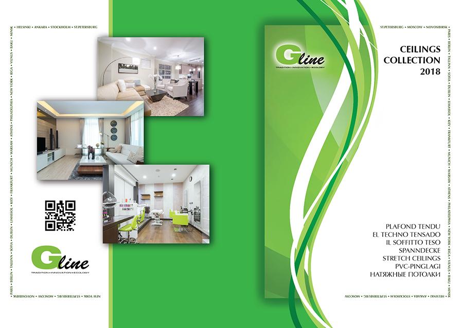 Каталог натяжных потолков G-line, обложка